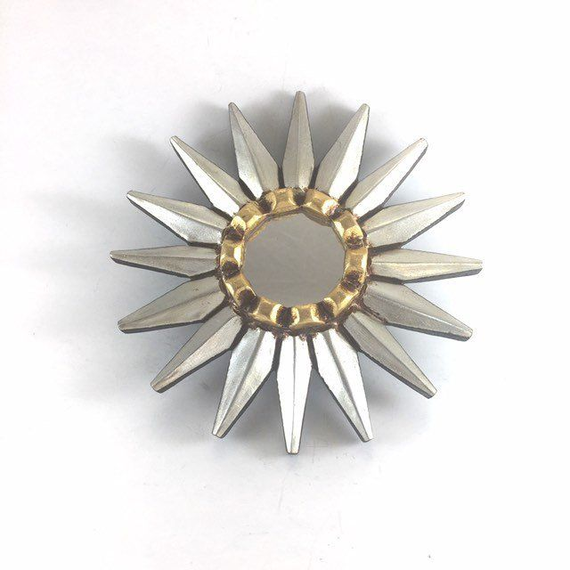 Silver Sunburst Mirror Star Mirror Beach Sun Mirror Small Round Mirror For Wall Decor Sunburst Wall A Sunburst Wall Decor Sunburst Wall Art Small Round Mirrors