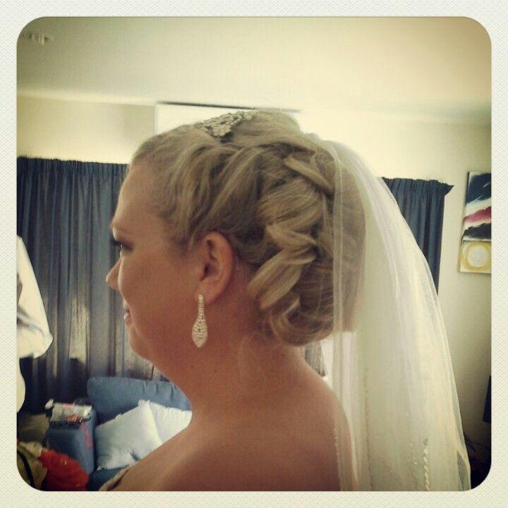 Beautiful bride #hair #curls #wedding #traditional #blonde #styledbymia
