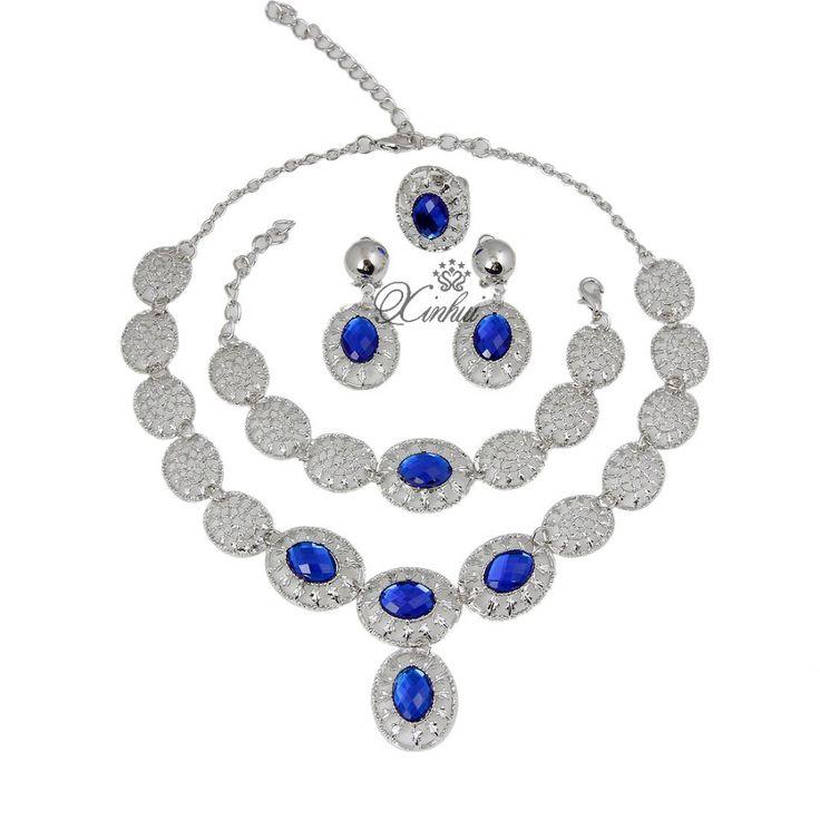 nigerian Wedding Women African Jewelry Set Silver Plated Fashion Bridal Elegant Romantic jewelery necklace set