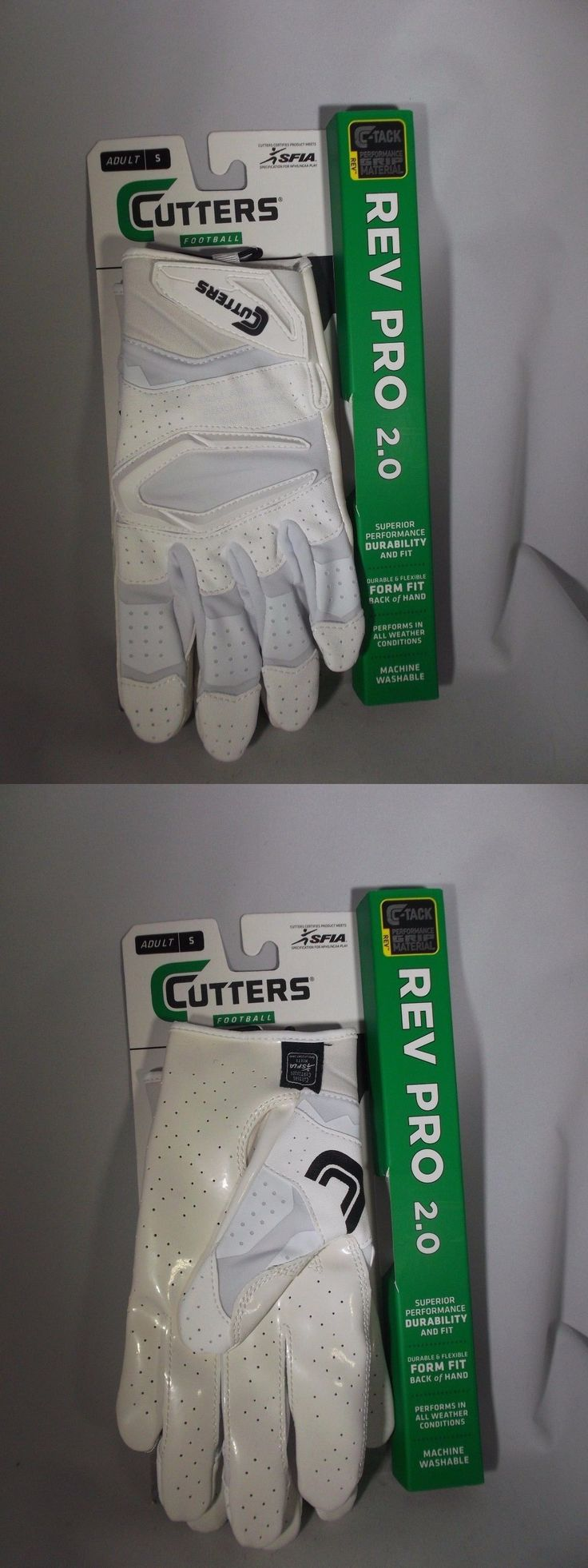 Gloves 159114: Adult Football Gloves - Cutters Rev Pro 2.0 - All White -> BUY IT NOW ONLY: $35 on eBay!