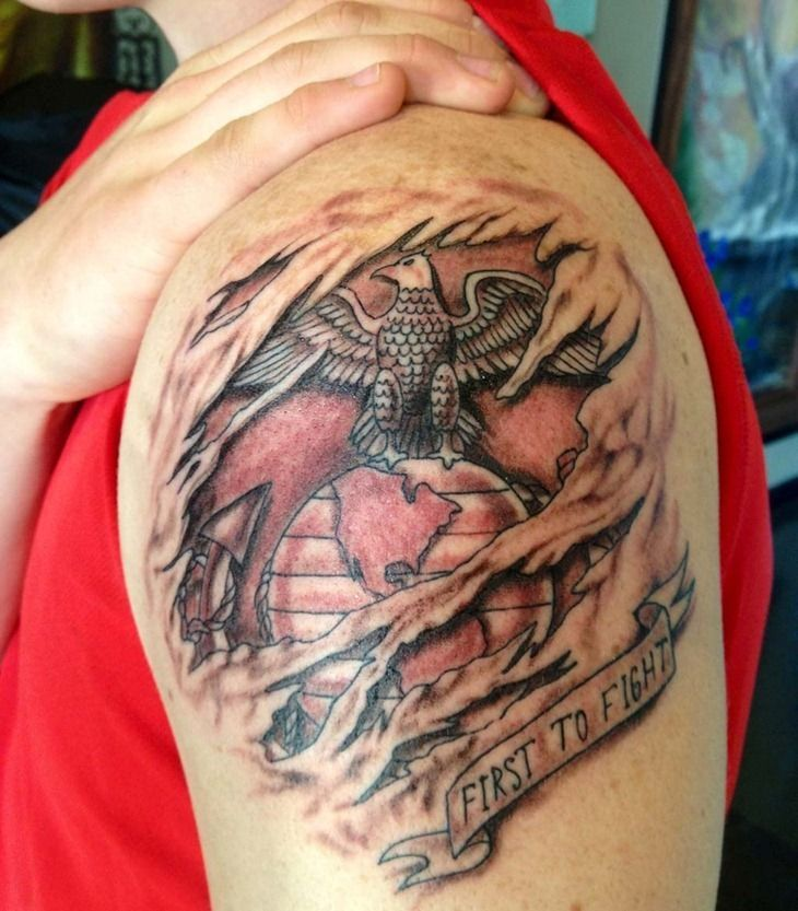USMC Tattoos on Pinterest | Marine Corps Tattoos, Marine ...