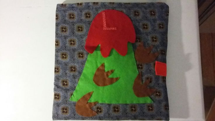 Felt dinosaur theme travel book/ board