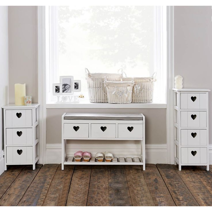 Heart Storage Bench With Seat
