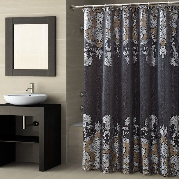 Fascinating Design For Shower Valance Curtains With Square Wall Mirror