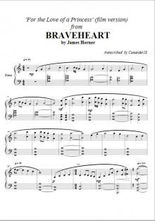 Braveheart - For the Love of a Princess (film version) - James Horner | Piano Plateau Sheet Music