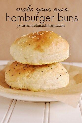 great homemade hamburger bun recipe - I used my kitchenaid instead of kneading by hand