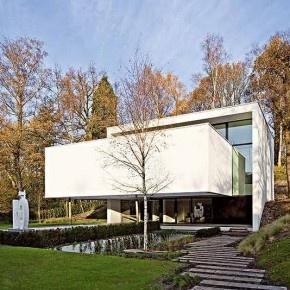 Elegante casa minimalista en Bélgica de Bruno Erpicum