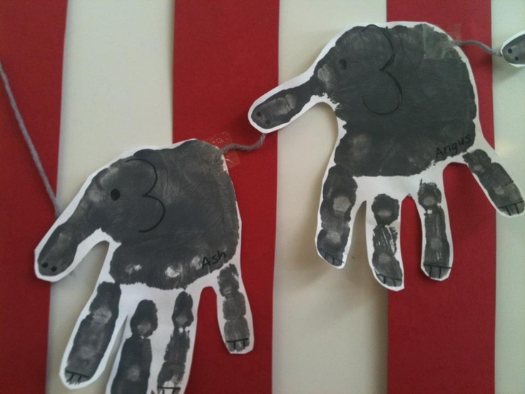 Use a felt tip pen to draw in details to complete the elephants.