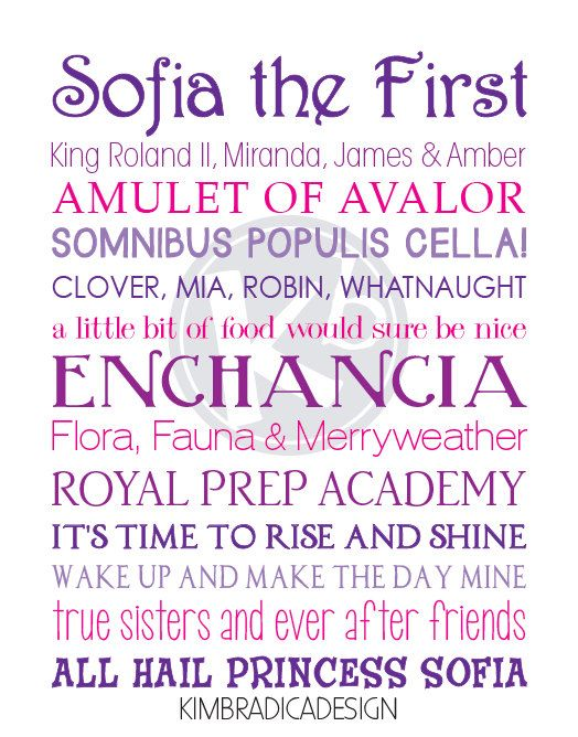 Sofia the First Movie Quote Subway Art 11x14 by KimBradicaDesign, $20.00