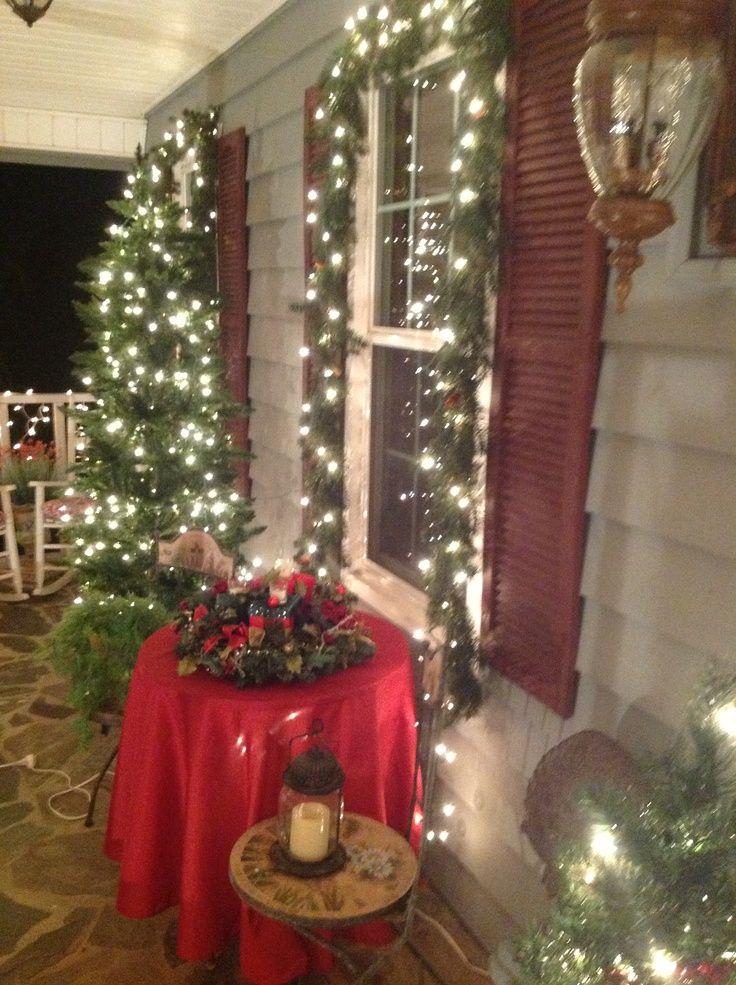 59 best images about christmas porch on pinterest. Black Bedroom Furniture Sets. Home Design Ideas