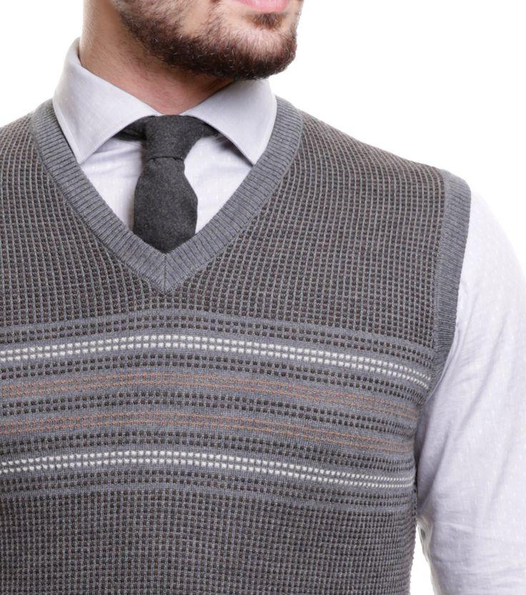 Karaca Erkek Slim Fit Triko Süveter - Gri #mensfashion #knitwear #triko #suveter #karaca #ciftgeyikkaraca www.karaca.com.tr