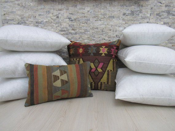 16 X 24 Turkish Pillow Cover Inserts Hypoallergenic Polyester Fiber Inserts Pillow Inserts Kilim Lumbar Inserts Pillow Case Inserts Boho Pillows Kilim Pillows Pillow Covers