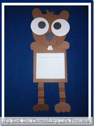 Will The Groundhog See His Shadow? A groundhogs day post complete with mini unit and craft project.