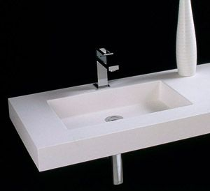 Porcelanosa Krion Solid Surface Wall Mounted Sink Basins