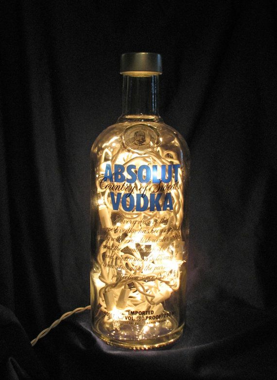 Absolut Vodka Bottle Light by RedneckHippieShak on Etsy.