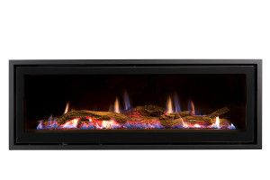 The Heatmaster Award-winning landscape fireplace is available with an Australian drift wood log set, and comes standard with a programmable thermostat remote control and Wi-Fi capability. Made in Australia.