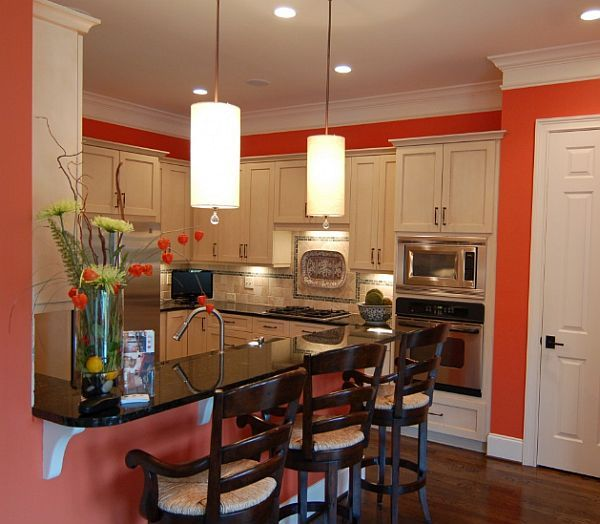 orange kitchen paint ideas | orange-kitchen