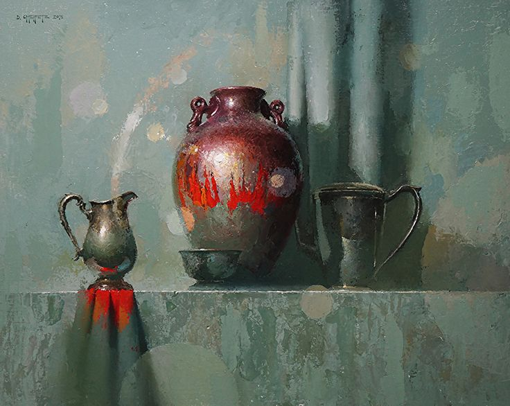 Witness to Red Left Unseen by David Cheifetz Oil ~ 16 x 20