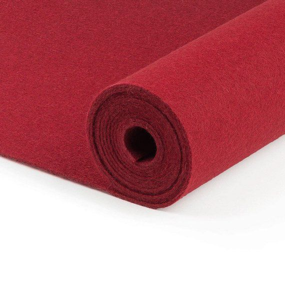 Dark Red Solid Tone Designer Wool Felt By The Foot 100 Wool 70 9 Wide 2mm 3mm And 5mm Thickne