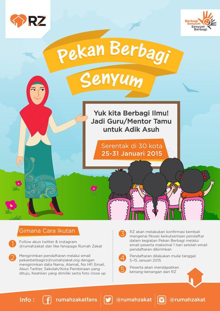 Poster design project from RZ #design #posterdesign #rumahzakat #pekanberbagisenyum #teacher