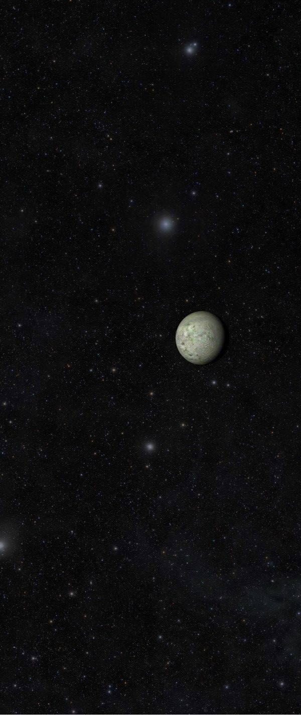 Neptune's moon Triton, as imaged by the New Horizons spacecraft