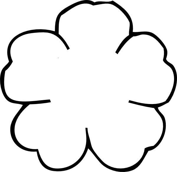 poppy flower outline to print | Flower Outline No Center clip art - vector clip art online, royalty ...