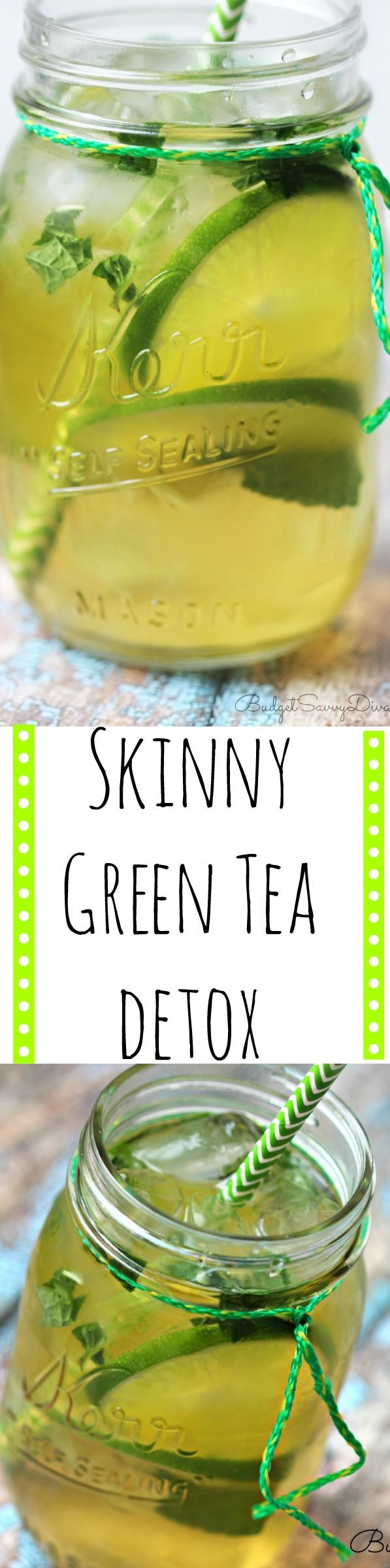 Wanting to lose a few pounds? I have been drinking this green tea detox for over a week and I have lost a bit of weight - it is not a miracle or anything but this recipe rocks! I love the lime too! Weightloss Water recipe. Skinny Green Tea Detox Recipe