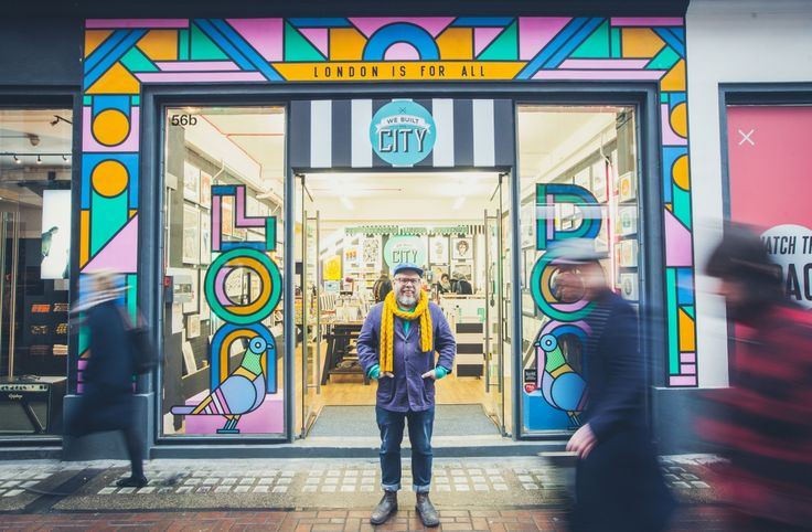 The much-loved, artist-led souvenir store We Built This City has called upon the excellent talents of revered graphic designer Supermundane to design its storefront and window display on Carnaby Street.  Revealed...
