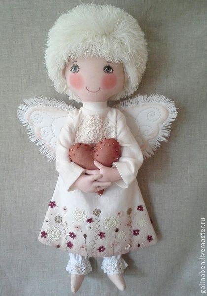 Коллекционные куклы ручной работы. Ярмарка Мастеров - ручная работа Текстильная кукла Ангел. Handmade.