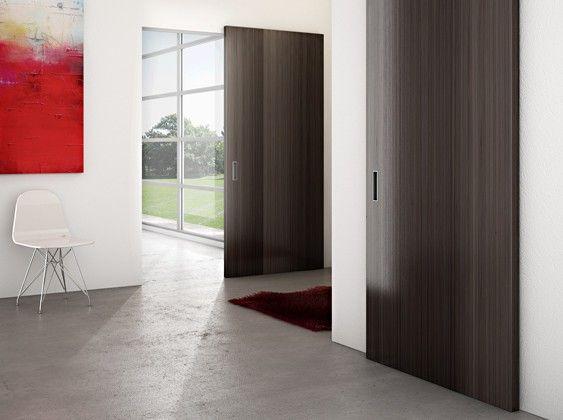 Onzichtbaar schuifdeursysteem deur 700 - 1120 mm breed Max 80 Kg - compleet met demping naar 2 zijden
