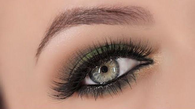 Yeşil Dumanlı Göz Makyajı Tekniği - Özel günler için veya günlük uygulayabileceğiniz yeşil dumanlı göz makyajı tekniği (Green Gold Smokey Eye Makeup Video)
