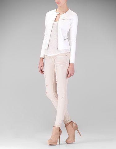 Basic leather look jacket