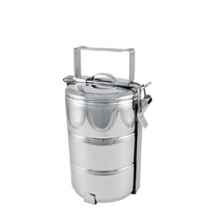 Stackable stainless steel lunch boxes have been used for generations to transport various types of food to school or to work. Made of food grade 304 (18-8) stainless steel each compartment can be reheated separately or used as a bowl. via Grassroots
