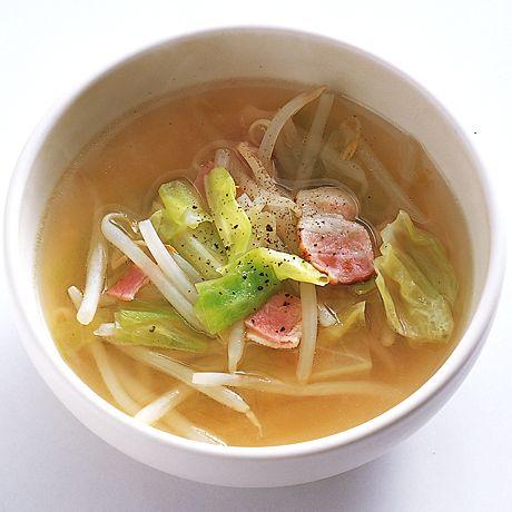 キャベツともやしのスープ | 井上和子さんのスープの料理レシピ | プロの簡単料理レシピはレタスクラブニュース