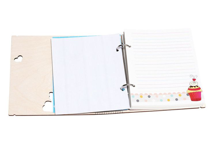 Personalized 'Sweet life' wooden cover notebook A5 by ZabavaBox