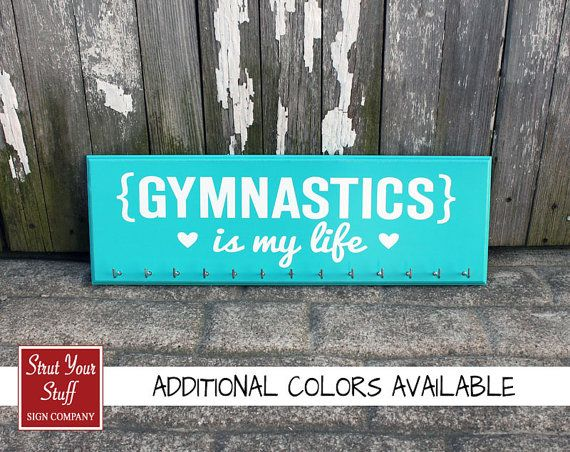 Gymnastic Medals Holder   Gymnastics is my by StrutYourStuffSignCo, $37.50