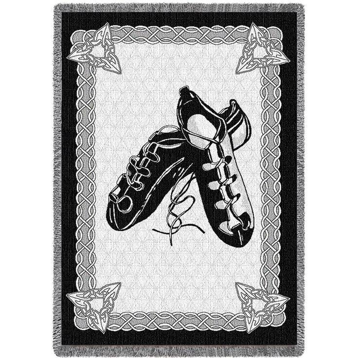 Irish Dance Shoes Art Tapestry Throw