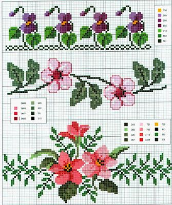 page with several nice flower borders