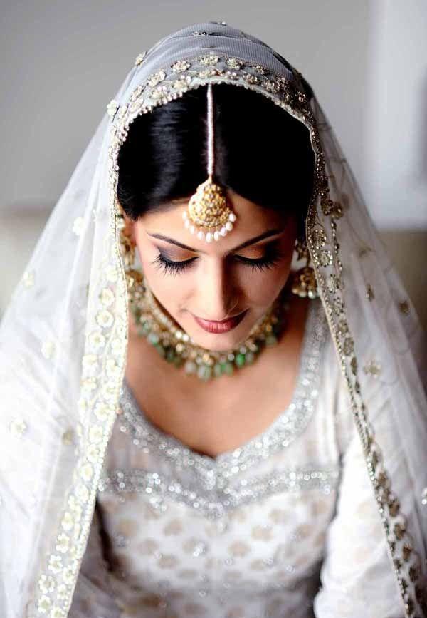 17 Best Ideas About White Saree Wedding On Pinterest