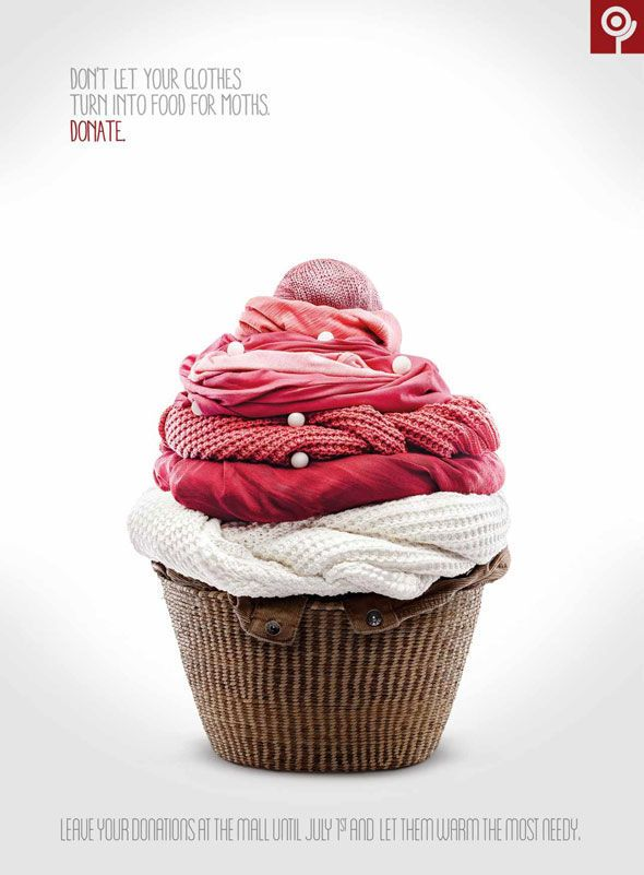 Edible Garment Ads - Ad Agency Shopping Itaguaçu Encourages You To Donate Your Old Clothes (GALLERY)