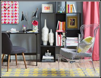 A Touch Of Houndstooth In This Room, Featuring A Surya Frontier Rug. (FT