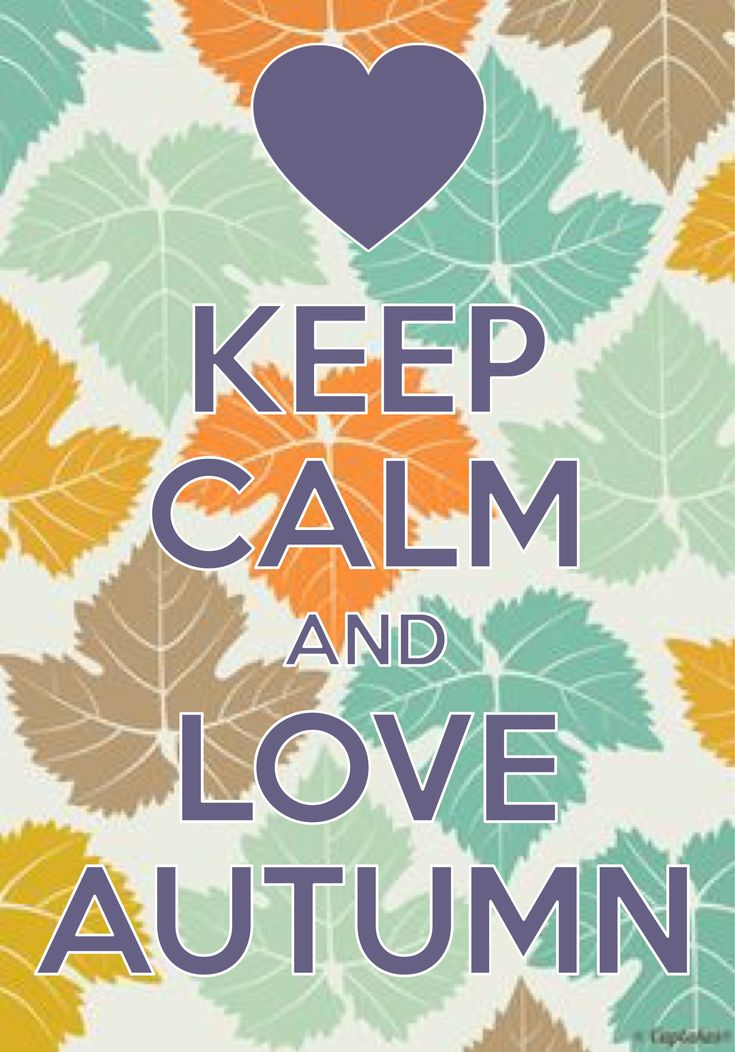 keep calm and love autumn / created with Keep Calm and Carry On for iOS / #autumn