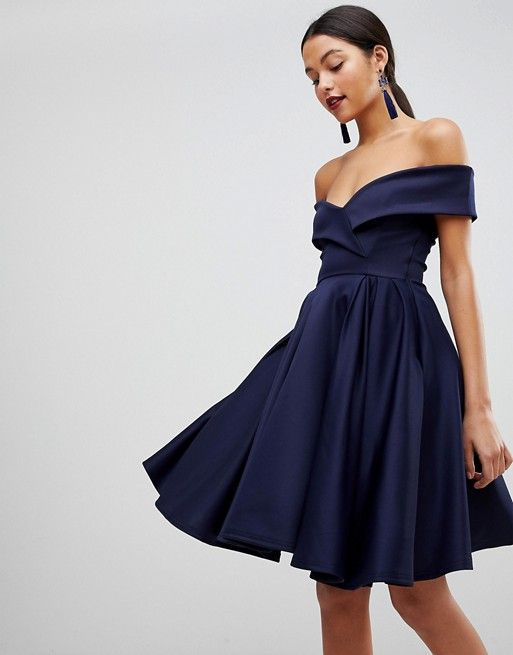1bc98c47dfbe Club L Modern Bardot Scuba Skater Dress | Graduation Dresses ...