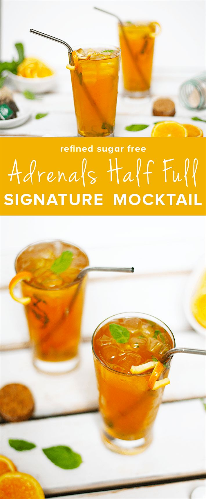 Adrenals Half Full Signature Mocktail is the perfect drink to add to your daily routine as a way to support your adrenal glands.