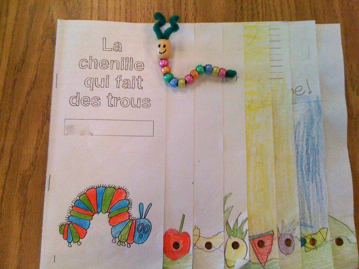"""Madame Belle Feuille: la nourriture """"la chenille qui fait des trous"""" = very hungry caterpillar activity en francais"""