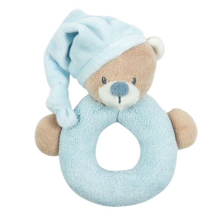 Ringrattle blue bear 16cm - #baby #bebe #doudou #knuffel #knuffelbeer #cuddlytoy #kuscheltier #nattou #papa #mama #mom #dad #father #mother #parents #maman #grossesse #zwanger #pregnant #pregnancy #zwangerschap #enceinte #cuddly #peluche #plush #Plusch #schwanger #geboorte #geburt #birth #naissance #vater #eltern #mutter #ragdoll #cuddly #toy #cadeau #gift #geschenk #bear #beer #ours #bar #blauw #bleu #blue #blau