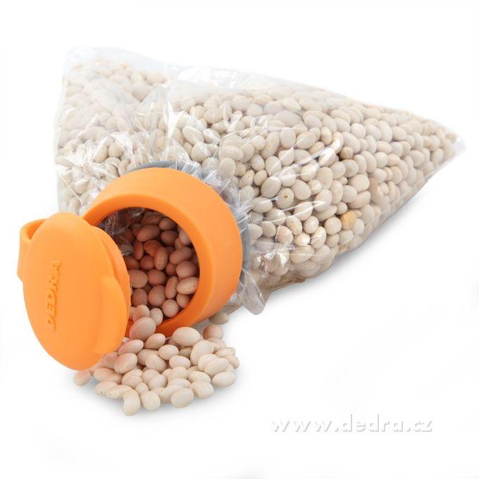 Uzáver na sáčky oranžový priemer cca 5 cm | DEDRA SLOVAKIA - darčeky do bytu a do domácnosti