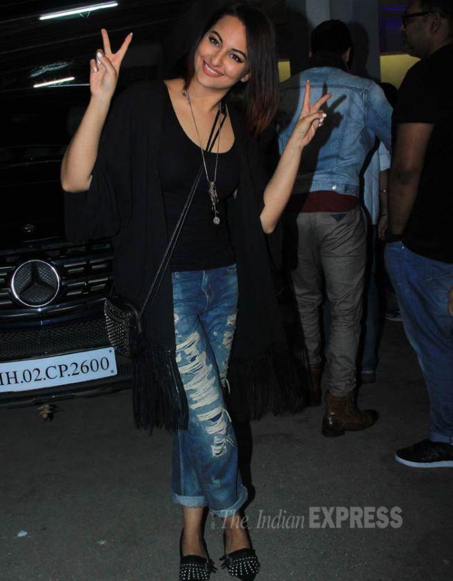 Sonakshi Sinha at special screening of 'Tevar'.