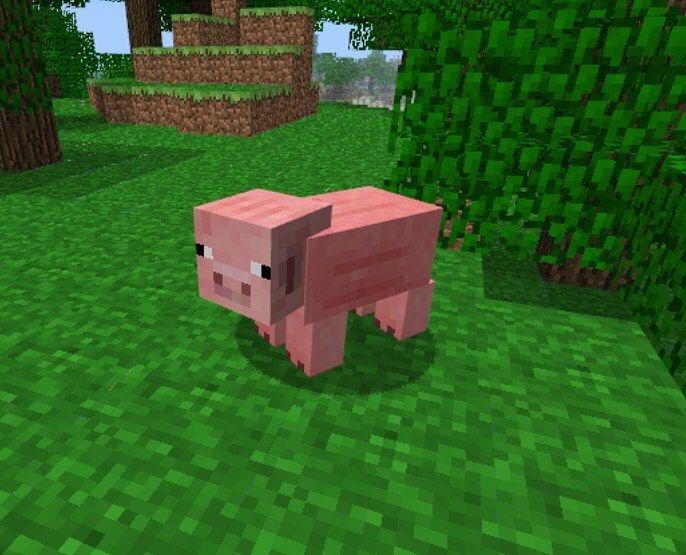 Фото свинки из майнкрафт