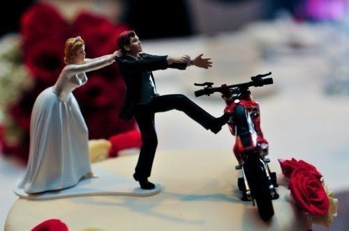 motorcross weddings but with a quad instead